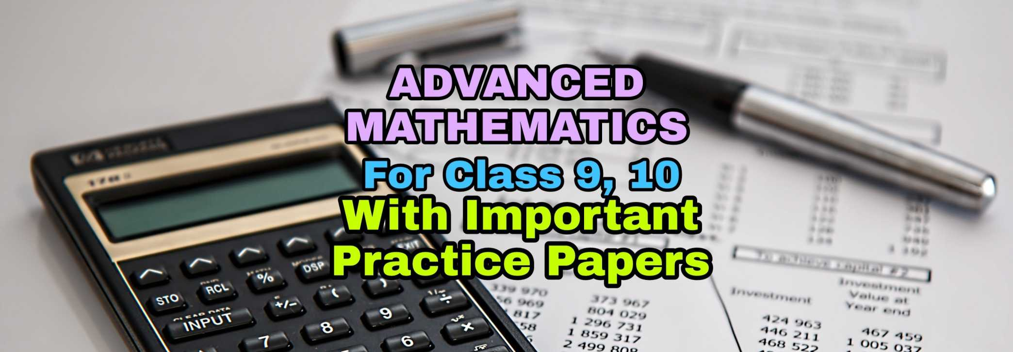 SEBA NCERT Advanced mathematics Solutions for Class 10 and 9 Online and PDF