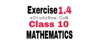 Exercise 1.4 class 10 maths