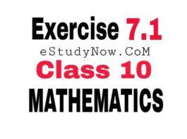class 10 maths ex 7.1 solutions