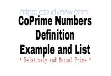Coprime numbers definitions