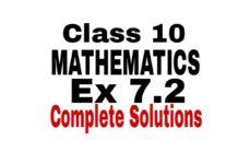 Class 10 maths ex 7.2 solutions