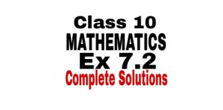 Class 10 maths ex 7.2 solutions