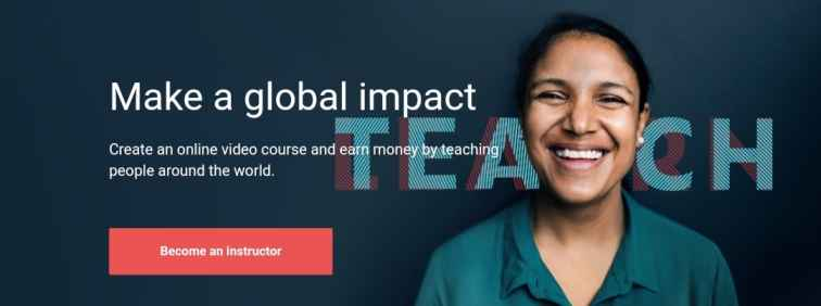 become an instructor or teacher at udemy