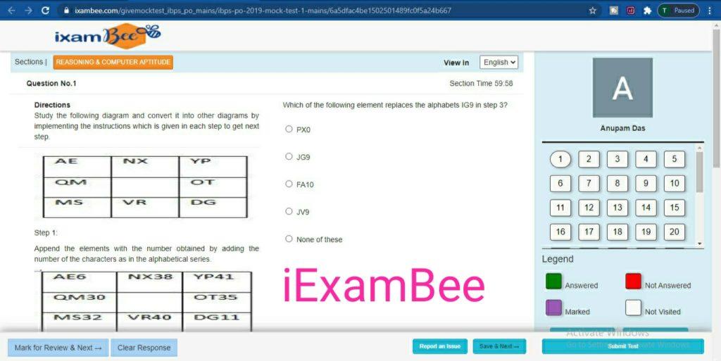 iexambee online mock test