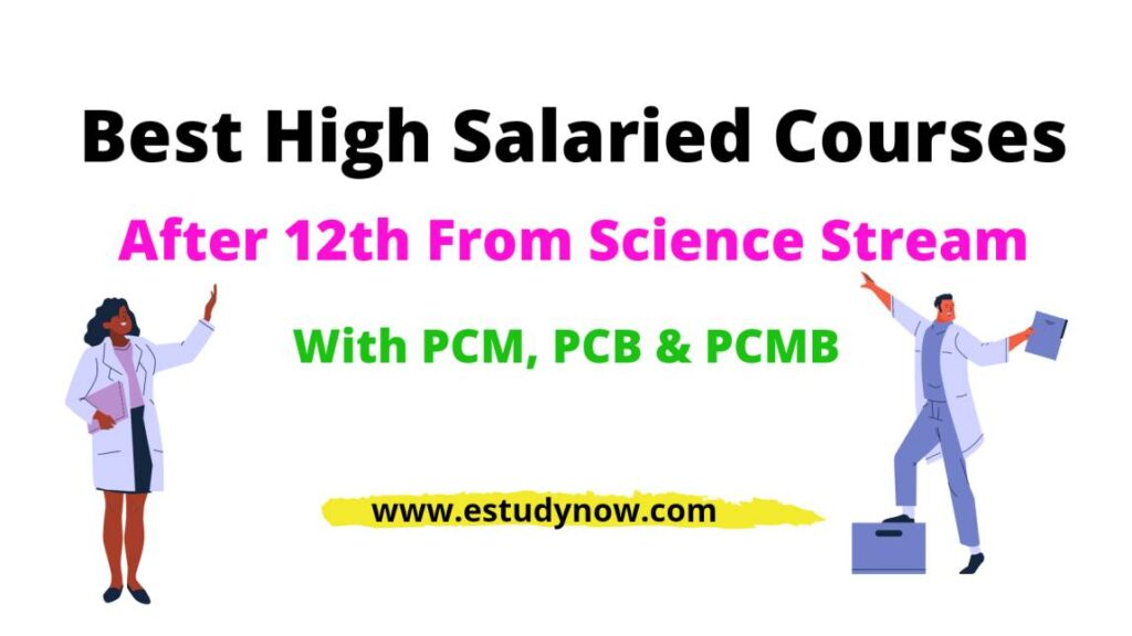 high salary courses after 12th science PCB pcm biology without mathematics